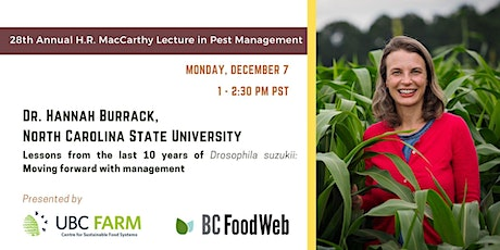 Lessons from the last 10 years of Drosophila suzukii (webinar) tickets