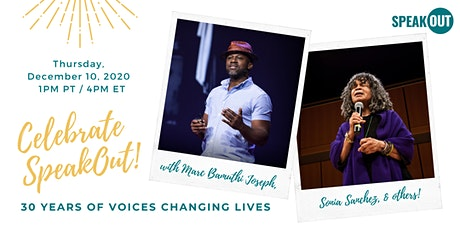 Celebrate SpeakOut: 30 Years of Voices Changing Lives! tickets