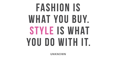 The Art of Styling and Dressing for your body shape - Young Ladies  8-13yo tickets