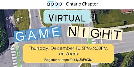 APBP Ontario Virtual Game Night tickets