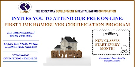 RDRC First-Time Home-Buyer Workshop Certification Program tickets