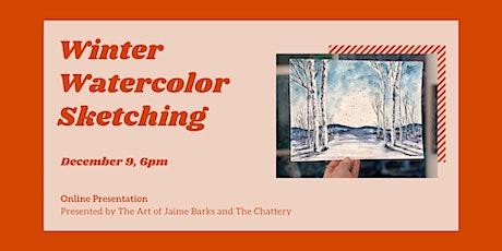 Winter Watercolor Sketching - ONLINE CLASS tickets