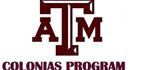 TAMU Colonias Program and Access Esperanza Clinics 2-Dias de Capacitación boletos
