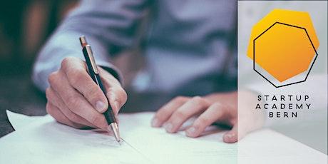 Elementare Verträge und Rechtsfragen für ein Startup Tickets