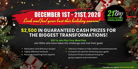 21 Day Holiday Transformation Challenge tickets