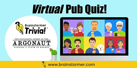 VIRTUAL Pub Quiz, NOVEMBER 27, 2020 tickets