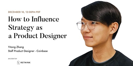 Influencing strategy as a Product Designer - workshop tickets