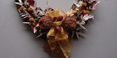 Dried floral Christmas wreath workshop