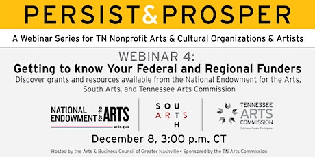 Persist & Prosper: Getting to Know Your Federal and Regional Funders tickets