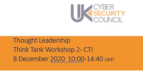 Thought Leadership  Think Tank Series Workshop 2 - CTI tickets