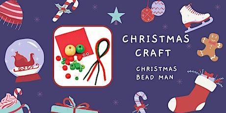 Christmas Bead Man craft tickets
