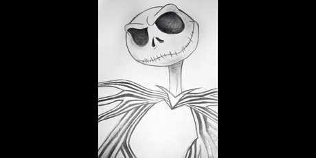 45min Nightmare Before Christmas Jack  Sketching Lesson  @5PM (Ages 6+) tickets