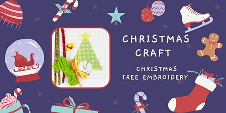 Christmas Tree Embroidery craft tickets