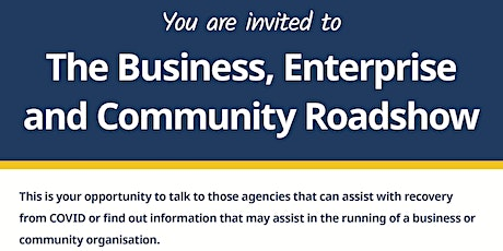 Business, Enterprise and Community Roadshow tickets