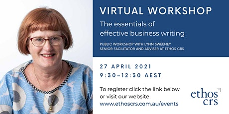 The essentials of business writing – April tickets