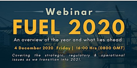 FUEL 2020 - An overview of the year and what lies ahead tickets