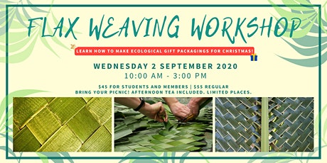 Flax weaving workshop - Special Christmas tickets