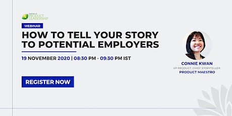 How to tell your story to potential employers tickets