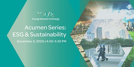 YWE Acumen Series:  ESG & Sustainability (Virtual Event) tickets