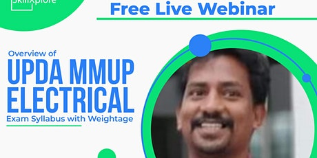 SkillXplore Free Webinar UPDA MMUP Electrical Exam Syllabus with Weightage tickets