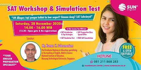 SUN English Online SAT Workshop & Simulation Test -  28 Nov 2020 tickets