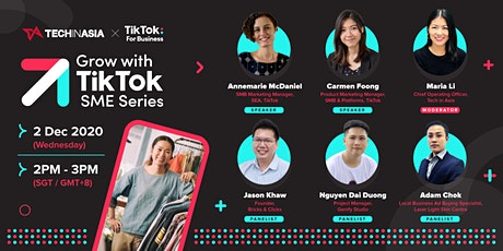 Grow with TikTok: SME Series tickets