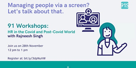 HR in the Covid and Post Covid World with Rajneesh Singh tickets