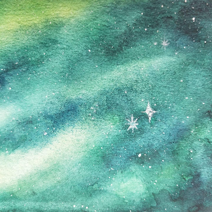 Galaxy Watercolour Painting for Beginners image