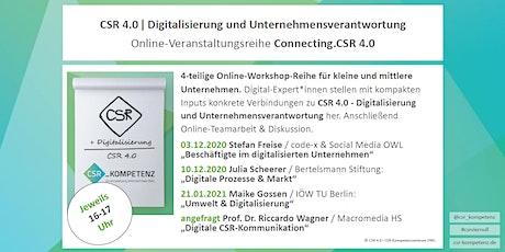 Connecting.CSR 4.0 Online-Workshop-Reihe / Digitale Prozesse & Markt Tickets