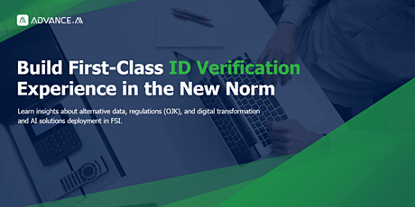 Build First-Class ID Verification Experience in the New Norm tickets