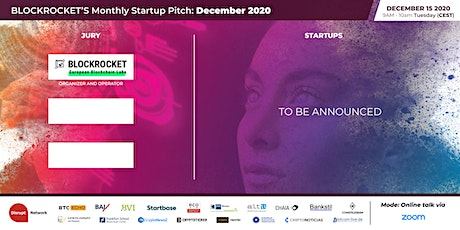 BLOCKROCKET's Monthly Startup Pitch: DECEMBER 2020 biglietti
