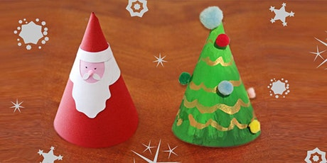 Donation! 45min Christmas Tree & Santa Paper Crafting  @2PM (Ages 4+) tickets