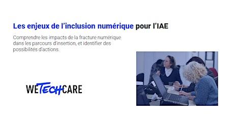 Les enjeux de l'inclusion numérique pour l'IAE billets