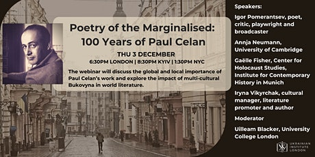Poetry of the Marginalised: 100 Years of Paul Celan tickets