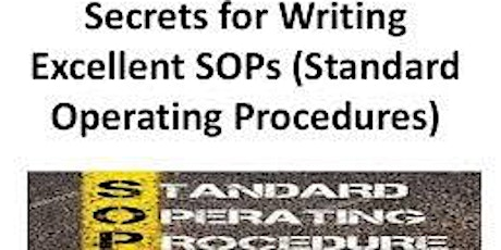 Recorded: 1-Hour Virtual Seminar On WRITING EFFECTIVE SOPS FOR QMS tickets