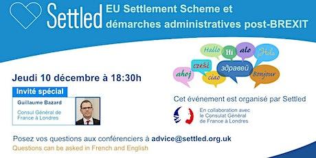 EU Settlement Scheme et démarches administratives post-BREXIT tickets