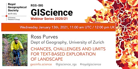 RGS-IBG GIScience Webinar Series:  Text-based exploration of landscape tickets