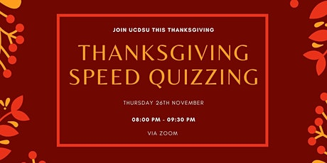 Thanksgiving Speed Quizzing tickets