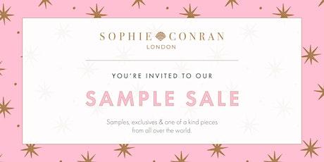 Sophie Conran Sample Sale tickets