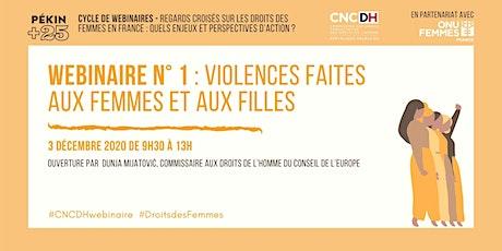 Webinaire  Regards croisés #1:  Violences faites aux femmes et aux filles billets
