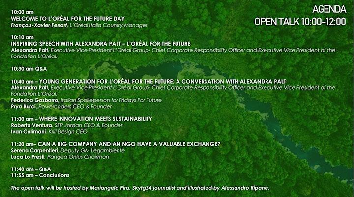 L'Oréal For The Future - Open Talk con Alexandra Palt image