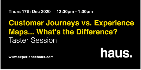 Customer Journeys vs Experience Maps: FREE Design Taster Session tickets