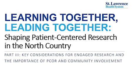 Learning Together, Leading Together: Shaping Patient-Centered Research tickets