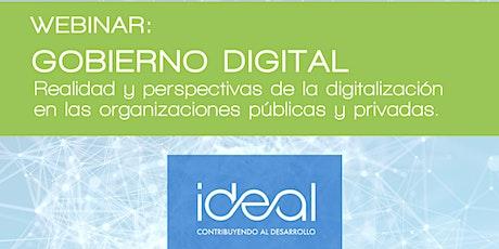 GOBIERNO DIGITAL. Realidad y perspectivas de la digitalización tickets