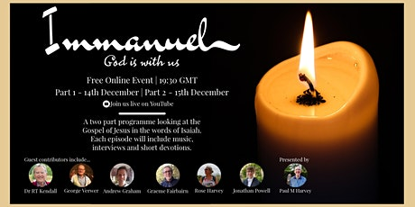 Immanuel- God Is With Us (Two Part Online Event) tickets