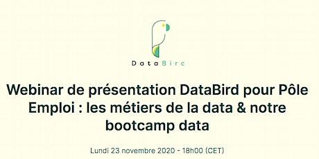 Webinar de présentation DataBird pour Pôle Emploi : les métiers de la data billets