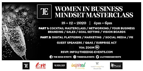 WOMEN IN BUSINESS/BUSINESS MINDSET MASTERCLASS tickets