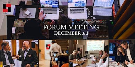 Forum Meeting December 3rd tickets