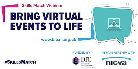 Skills Match Webinar: Managing Fundraising Events Online tickets