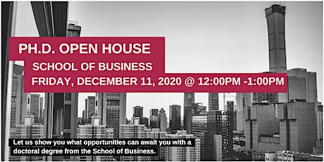 School of Business at Stevens Institute of Technology - Ph.D. Open House tickets